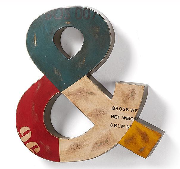 Letra decorativa Vintage multicolor