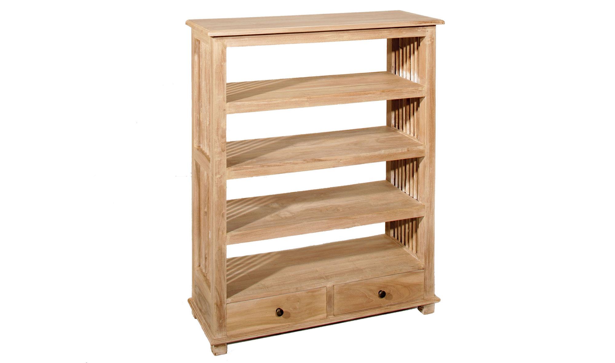 Librería 2 cajones colonial madera lavada disponibles en nuestra web