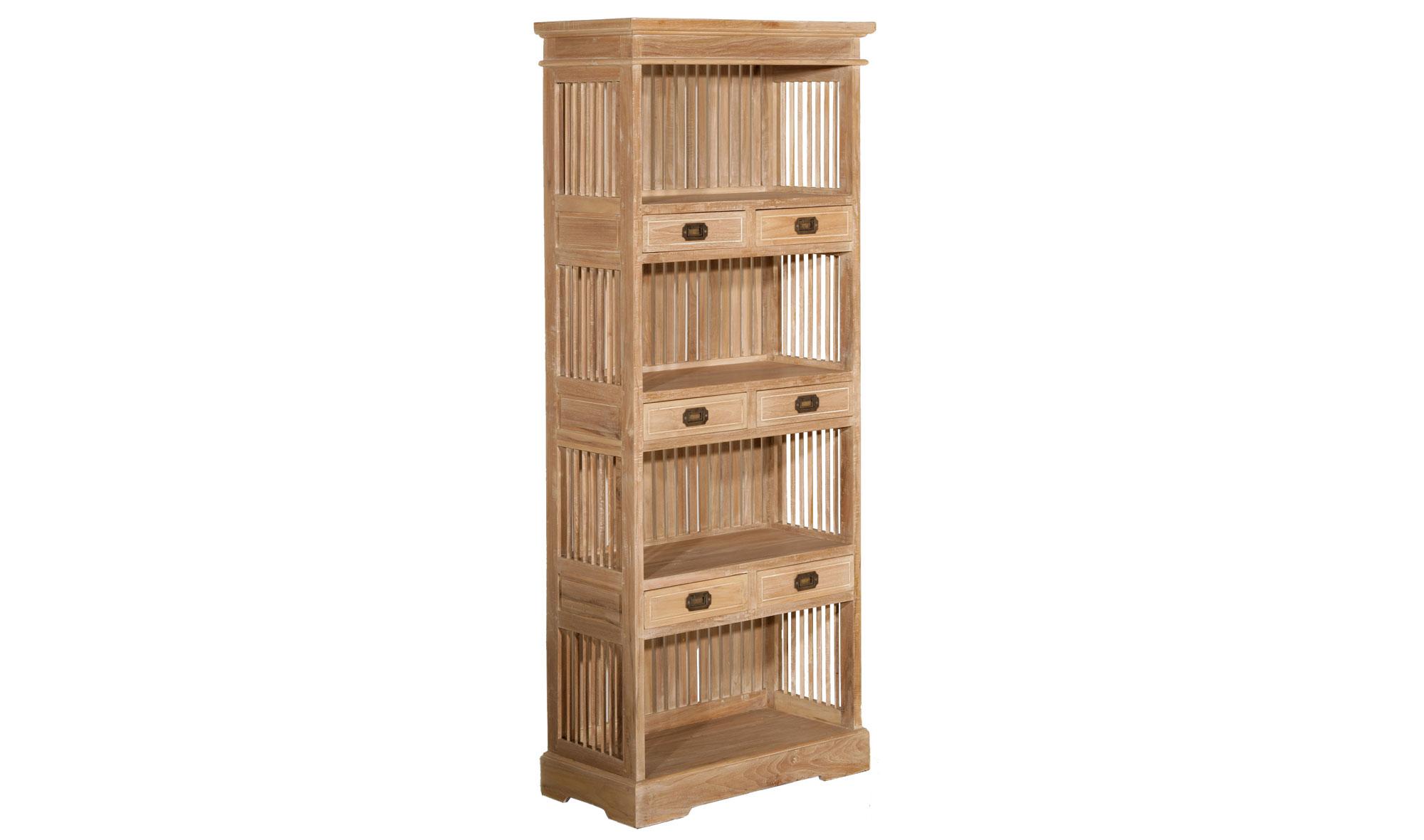 Librería 6 cajones colonial madera lavada disponibles en nuestra web