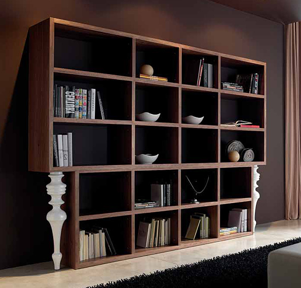 Libreria moderna candolim en for Mueble libreria salon