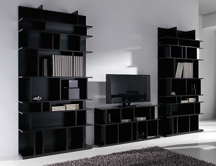Libreria moderna caty black no disponible en for Muebles librerias modernas