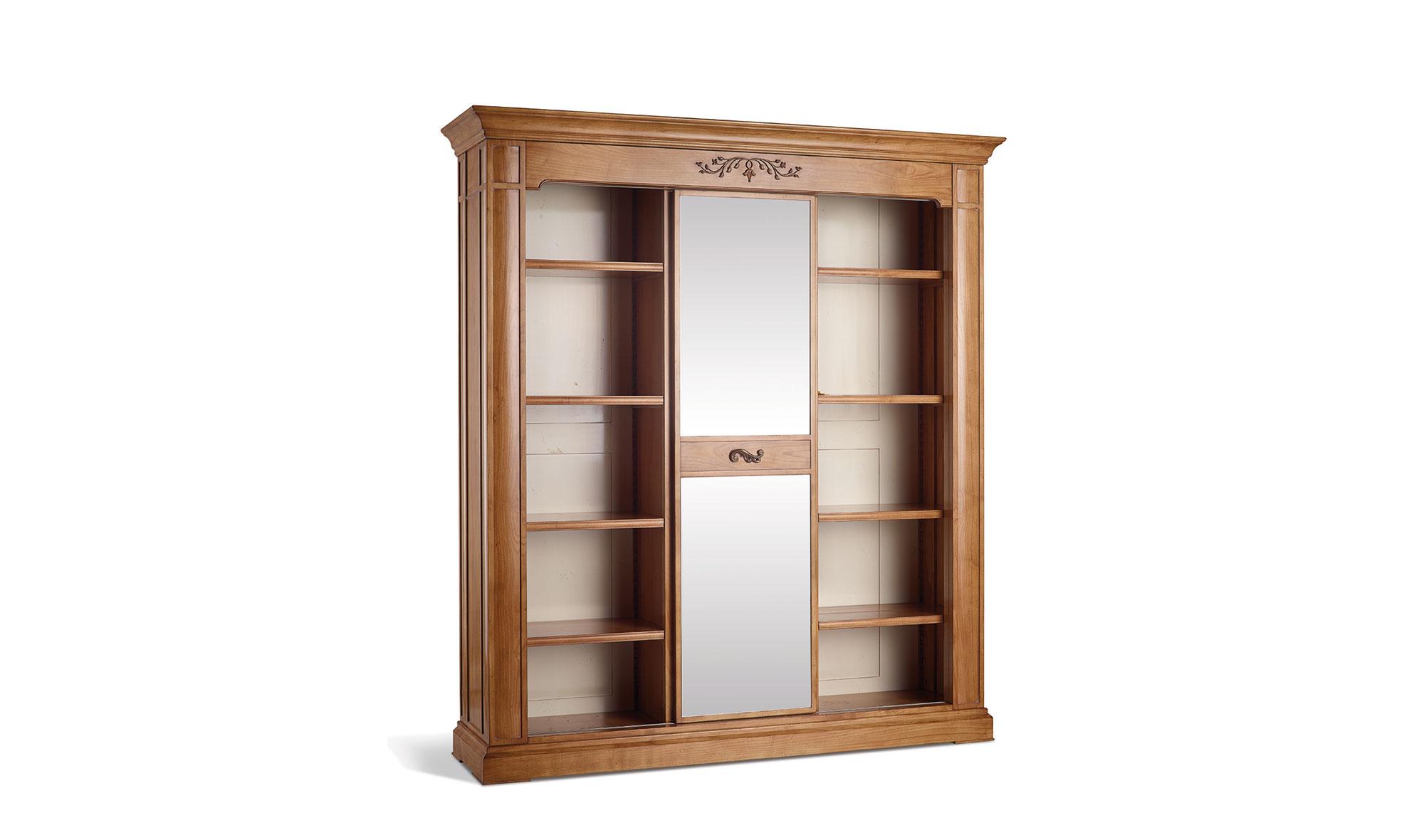Librer a con espejo vintage flash de lujo en for Muebles de libreria