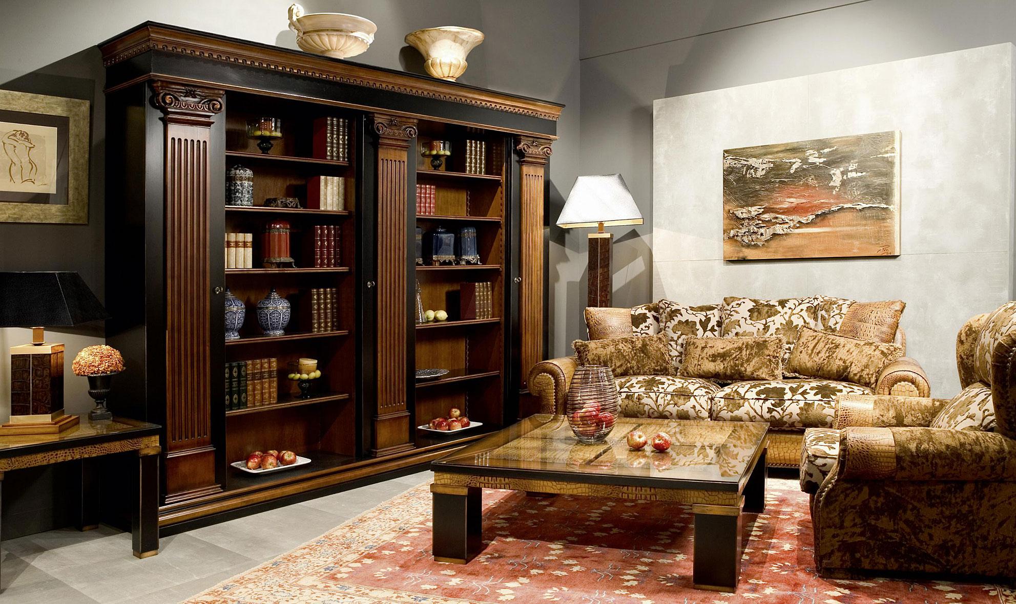 Librer a doble cl sica countryside de lujo en for Muebles de libreria