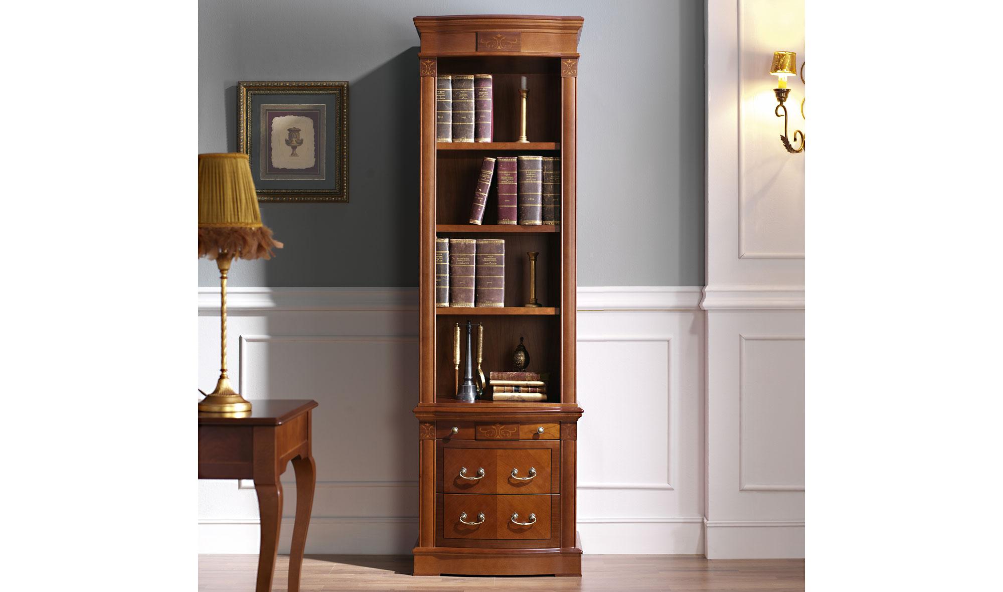 Librer a estrecha cl sica aureli en for Libreria muebles