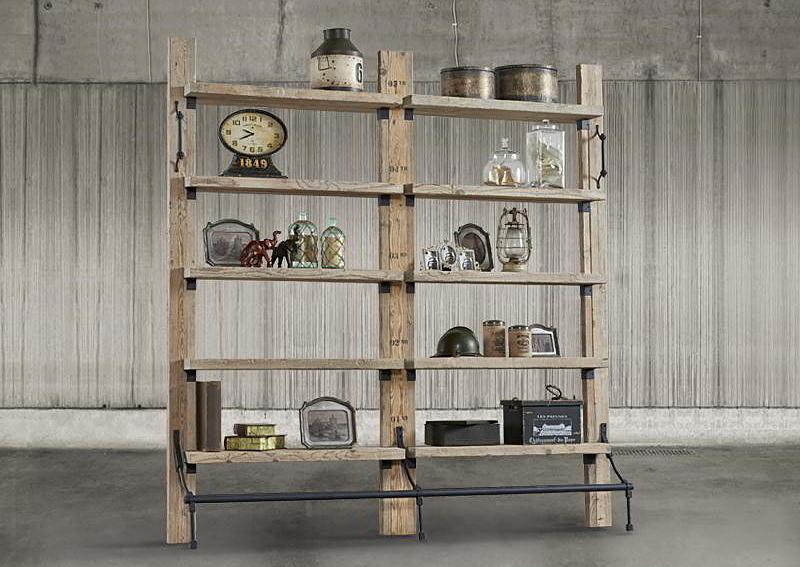 Librer a vintage loft doble madera de lujo en - Libreria de madera ...
