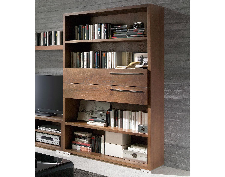 Librero 2 cajones moderno volga en tu tienda de - Libreros de madera modernos ...