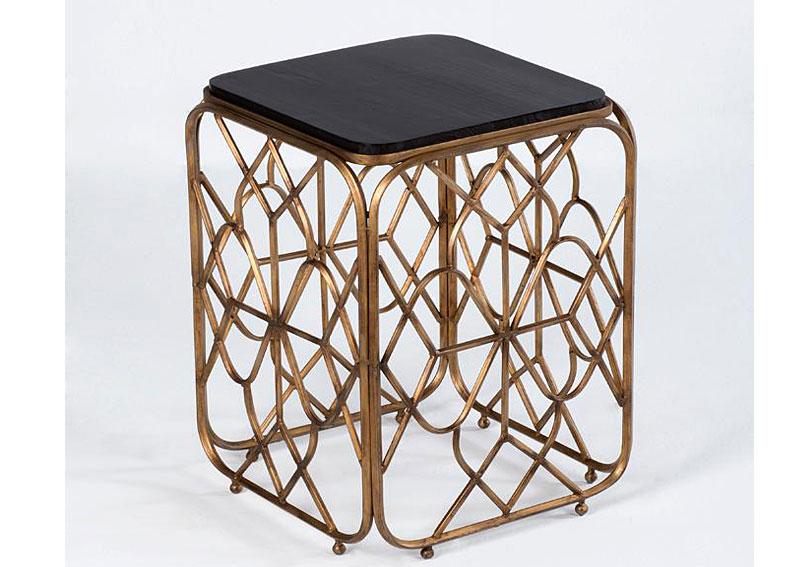Mesa Aux vitange metal dorado art decó no disponible en ...
