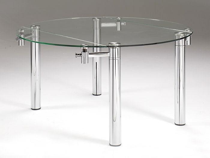 Mesa de comedor extensible redonda moderna andros no for Mesa circular extensible