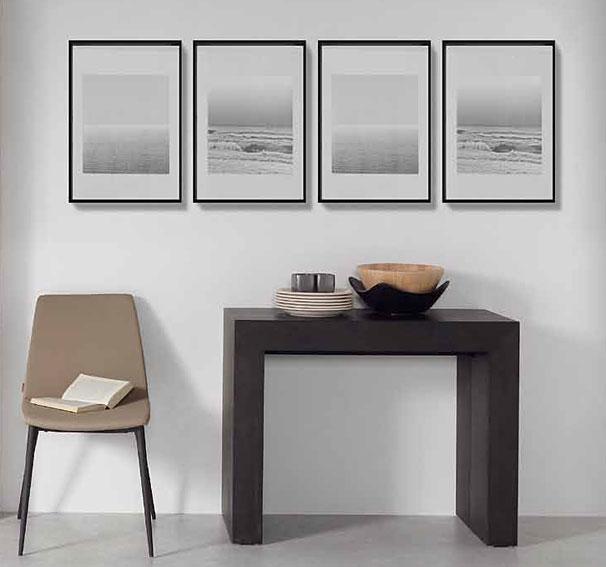 Mesa consola extensible negra penta no disponible en - Mesa consola extensible wengue ...