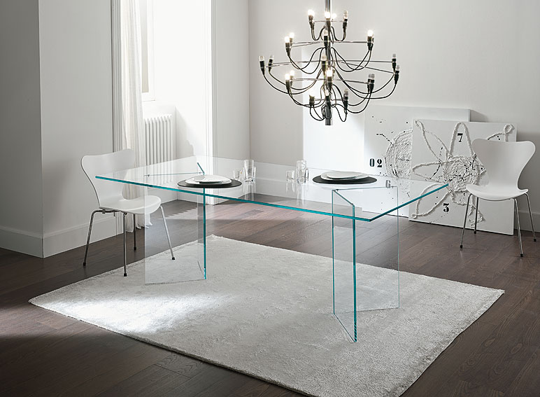 Mesa de comedor de cristal bacco no disponible en for Mesas de salon de cristal