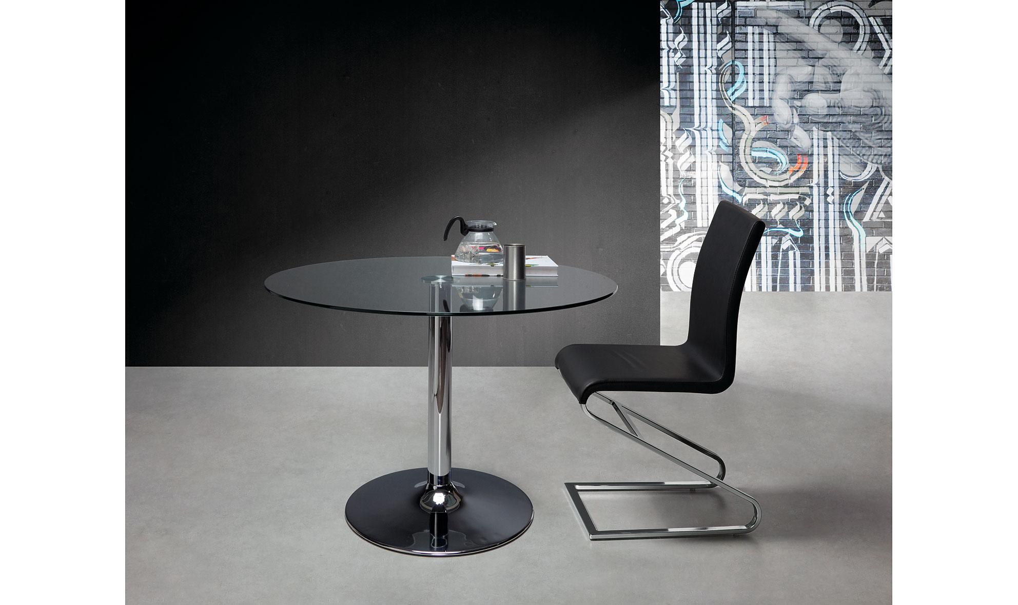 Mesa de comedor moderna fany en for Muebles de cristal