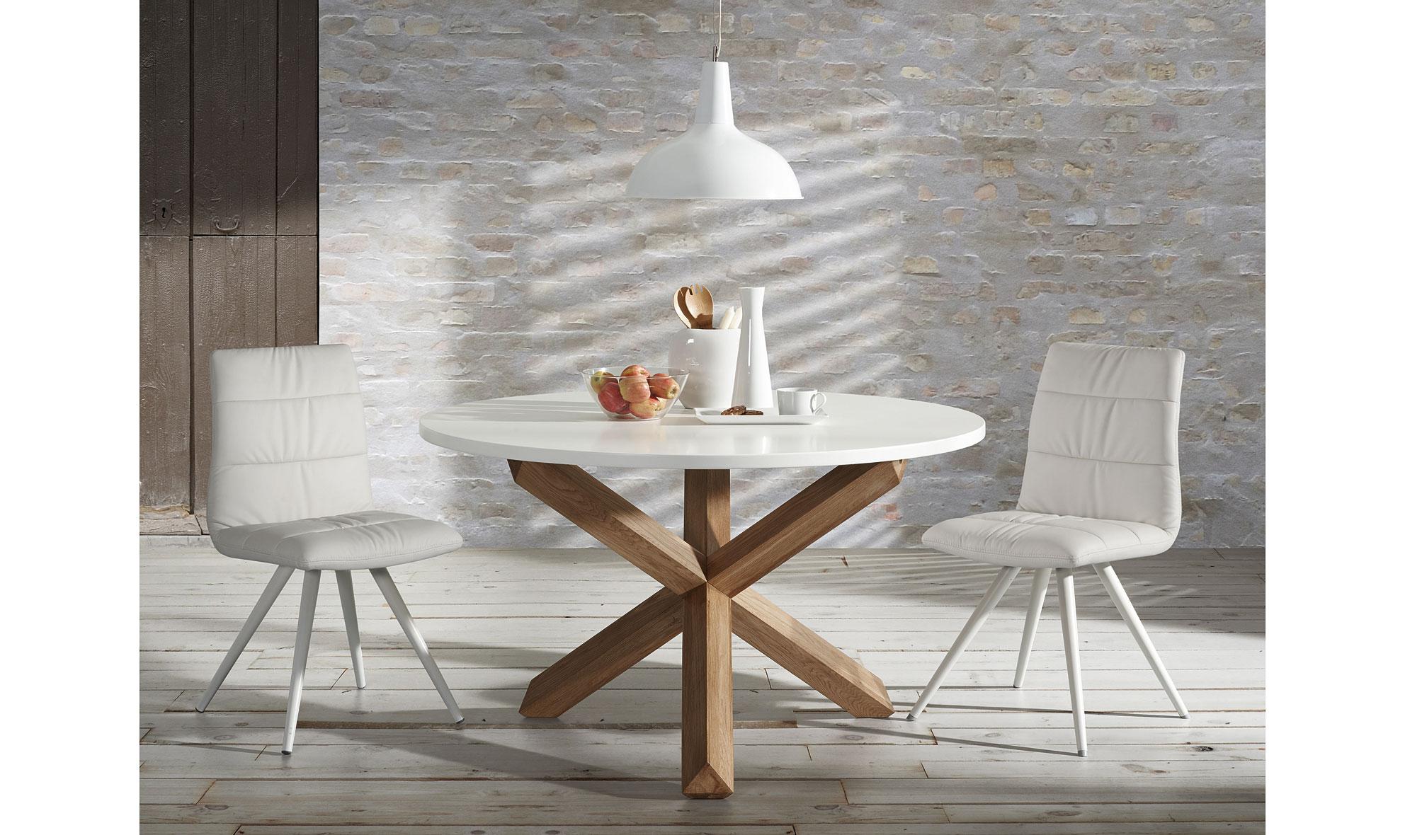 Mesa de comedor redonda Lotus