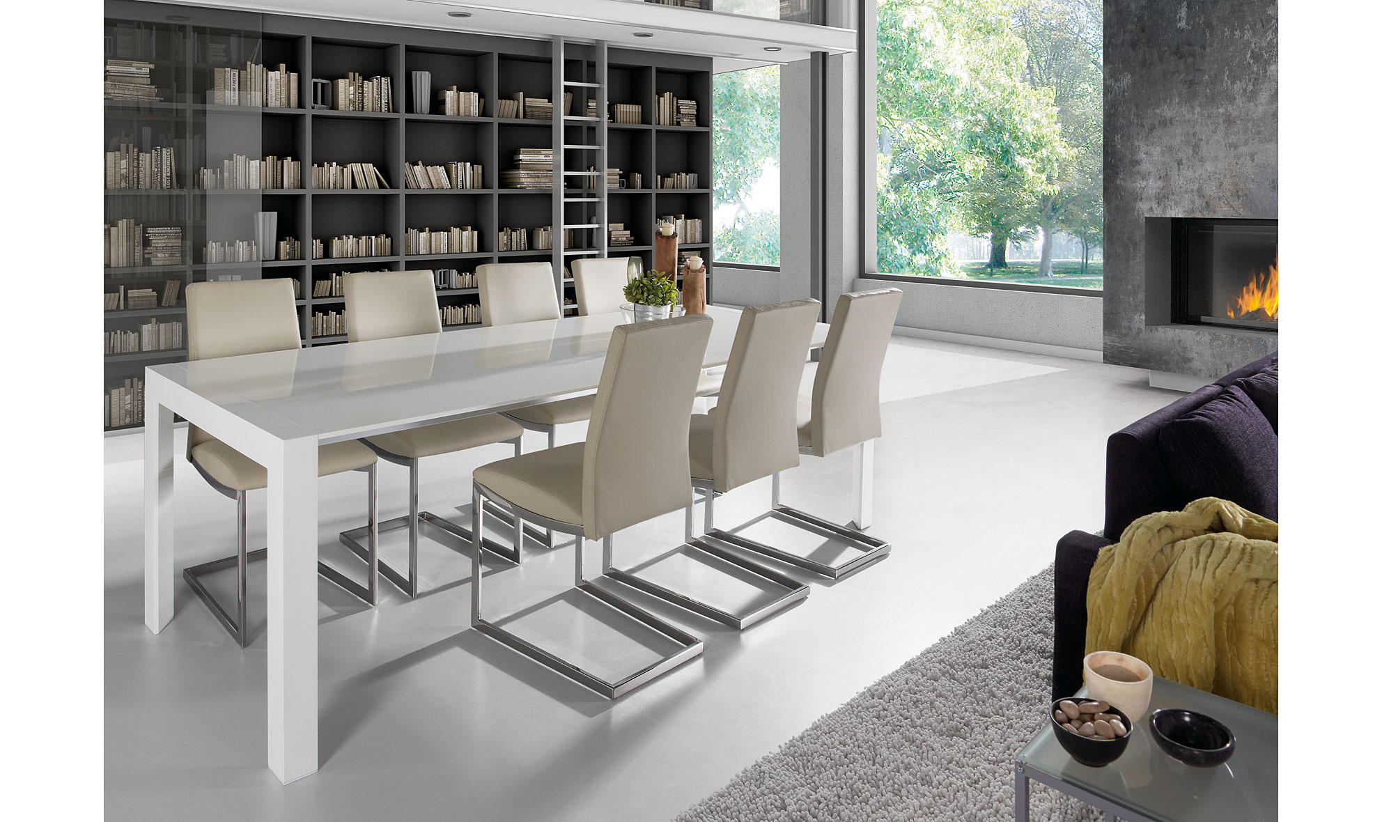 Mesa de comedor extensible moderna nagar en for Mobiliario para despachos