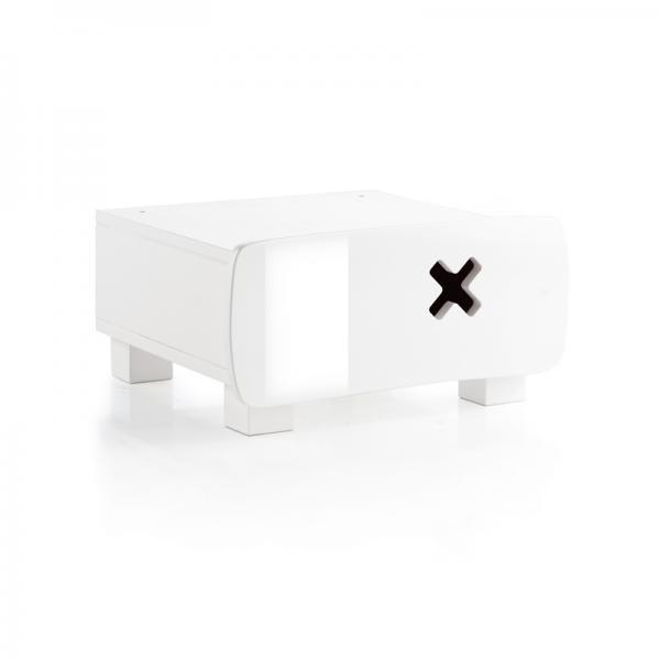 Mesa Noche Box Mini Blanco Alto Brillo no disponible en ...