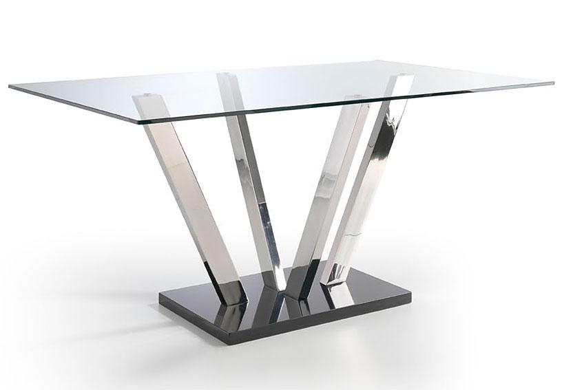 Mesa de comedor kripton no disponible en for Cristal para mesa rectangular