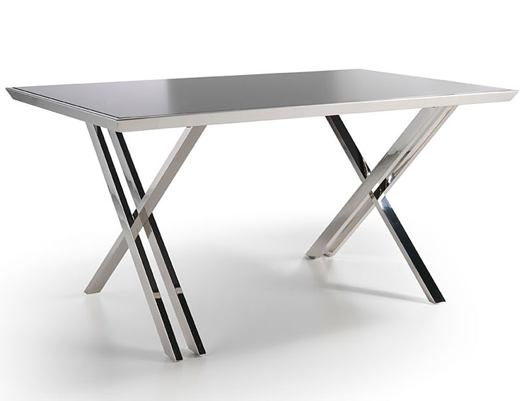 Mesa rectangular extensible de cristal templado car interior design - Mesa cristal templado ...