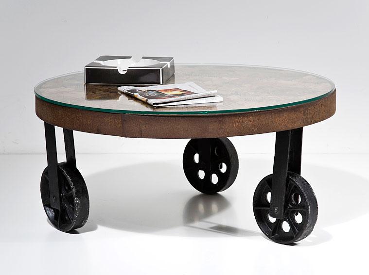 Mesa de centro redonda vintage memory no disponible en - Ruedas para mesa de centro ...