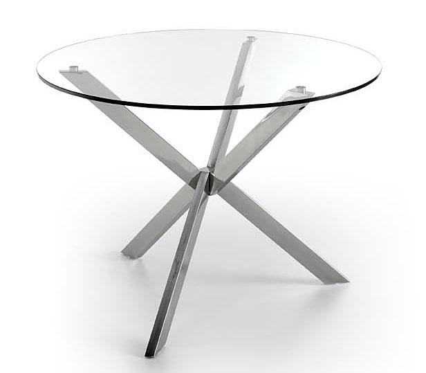 Mesa de comedor redonda moderna zedd no disponible en for Mesas redondas de cristal