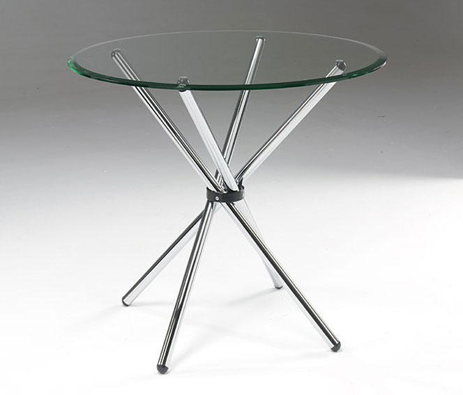 Mesa de comedor redonda moderna yorel no disponible en - Mesa redonda de cristal ...