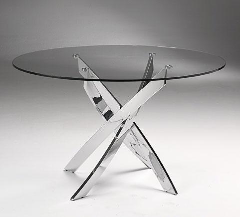 Mesa de comedor redonda moderna xenon en - Mesas cristal redondas ...
