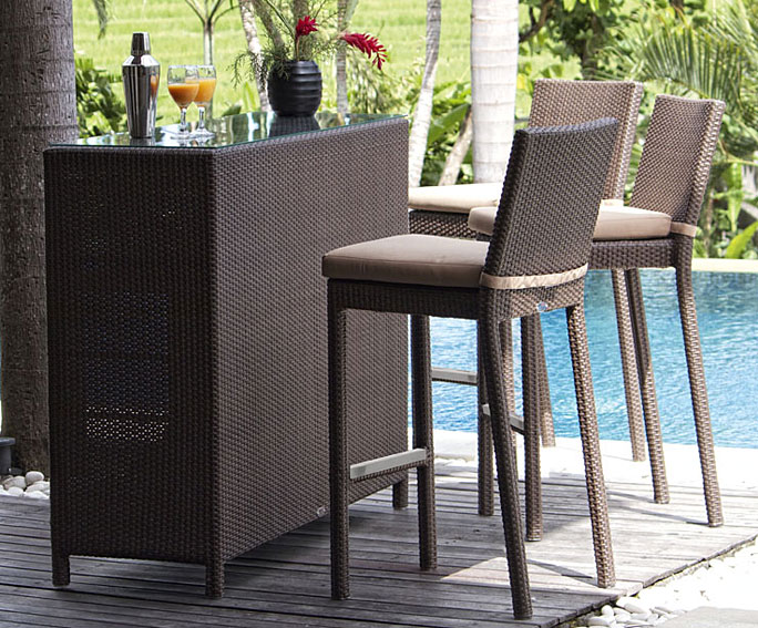 Mesa bar de jard n eurobar en for Muebles de jardin