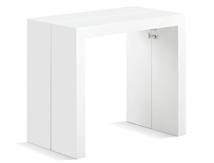 Mesa consola extensible plegable blanca no disponible en for Mesa blanca extensible