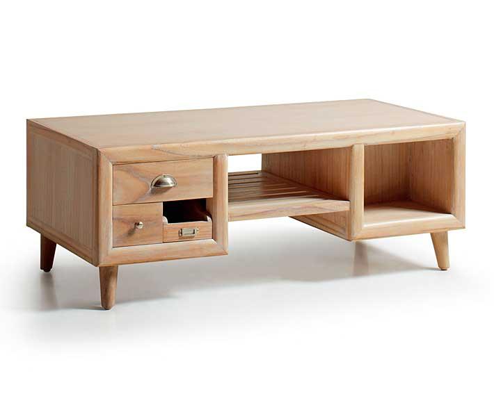 Mesa de centro 6 cajones vintage Bromo