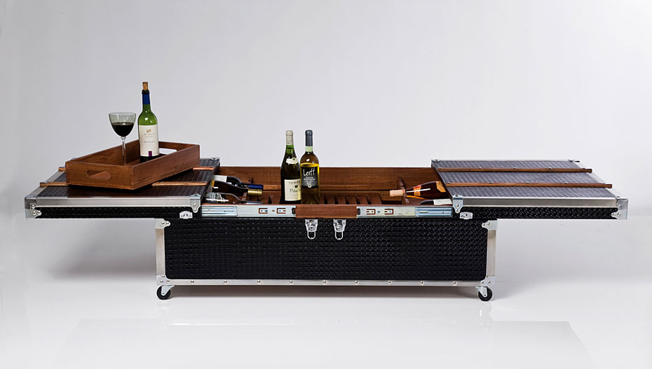 Mesa de centro ba l bar vintage elegance no disponible en for Mesas de madera bar