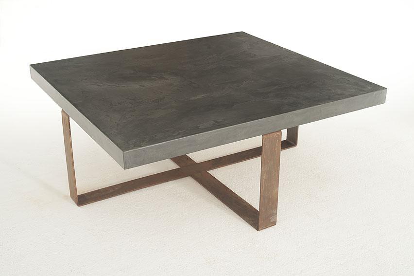 Mesa microcemento tapa gruesa benito ta en for Mesas o muebles para telefonos