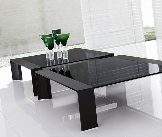 Mesa de centro cuadrada moderna miami en - Mesas de centro de cristal baratas ...