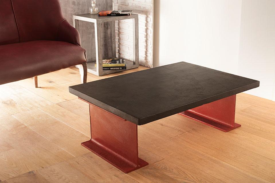 Mesa centro microcemento fina rutilo de lujo en for Muebles mesa catalogo