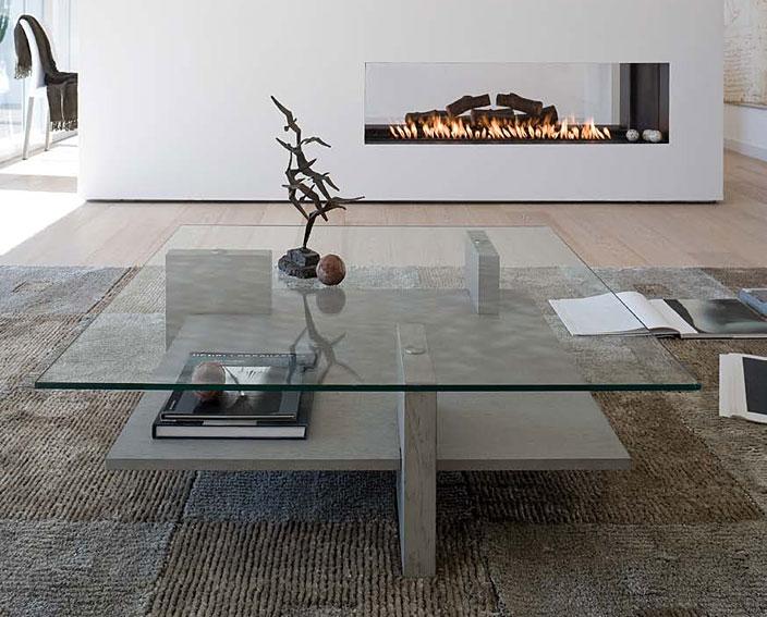 Mesa de centro moderna zen en for Mesas de comedor cuadradas modernas