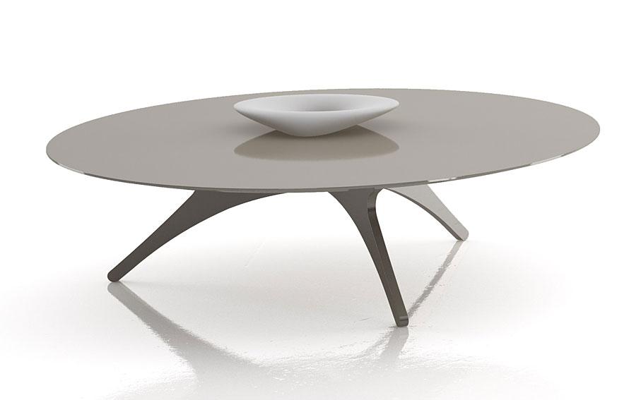 Mesa de centro redonda moderna lluna no disponible en - Mesas redondas modernas ...