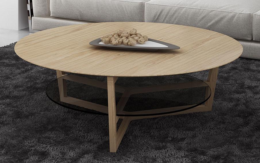 Mesa de centro redonda moderna maralba no disponible en for Mesas redondas modernas