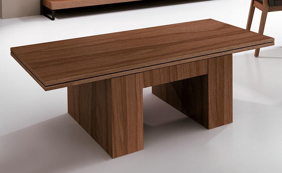 Mesa de centro convertible en mesa de comedor moderna for Mesas de centro comedor