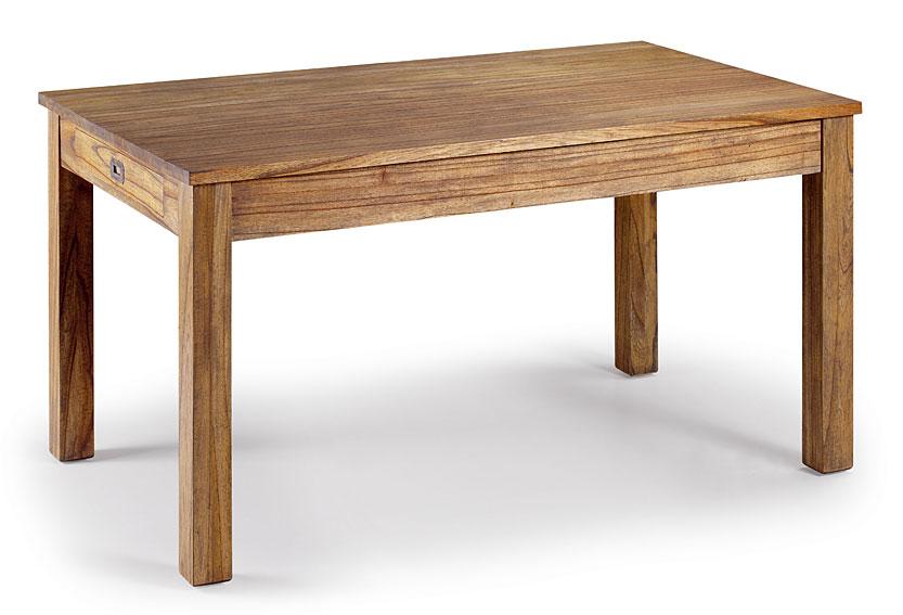 Mesa comedor 2 cajones colonial merapi en for Mesas de salon de madera
