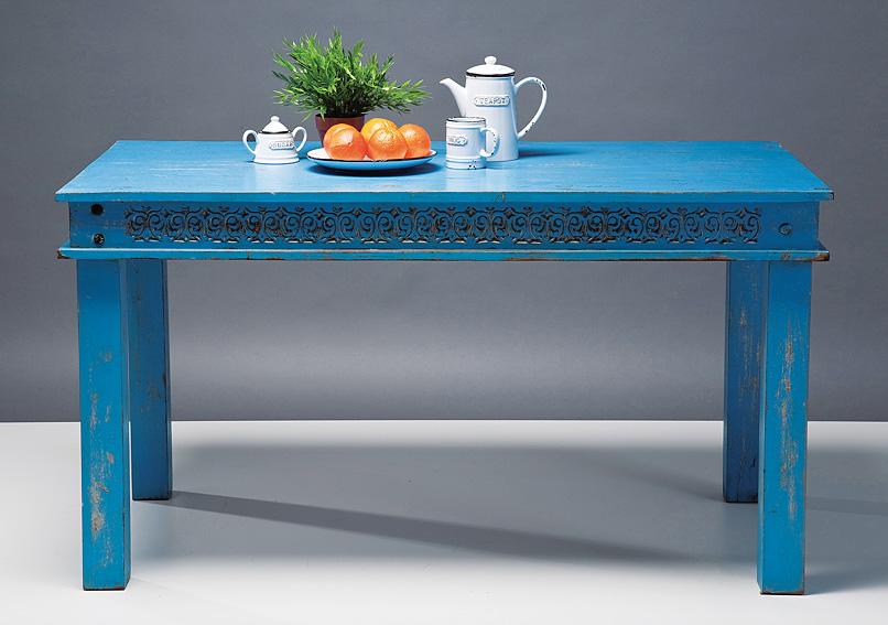 Mesa de comedor azul vintage carla no disponible en for Muebles de comedor vintage