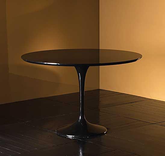 Mesa de comedor negra bradford no disponible en for Mesa comedor negra