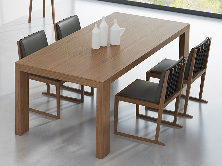 Mesa de comedor extensible moderna line no disponible en for Como hacer mesa extensible