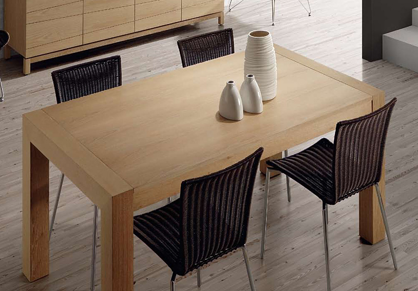 Mesa comedor extensible madera natural swanage no for Mesas de comedor extensibles