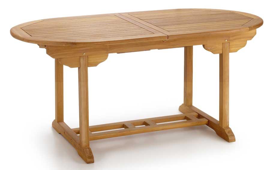 Mesa de comedor extensible teka en for Muebles de teka para jardin