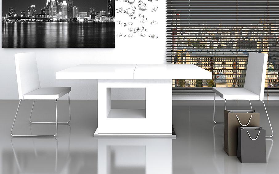 Mesa comedor extensible moderna lucrecia en cosas de - Como hacer una mesa extensible ...