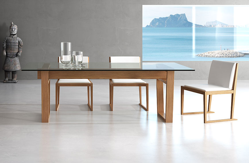 Mesa de comedor moderna maralba no disponible en for Muebles de comedor mesas
