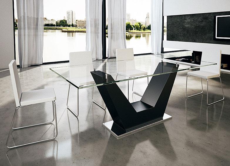 Mesa de comedor moderna virano en cosas de - Mesas diseno comedor ...