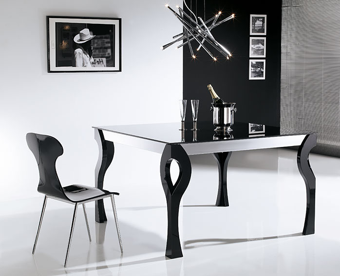 Mesa de comedor extensible moderna xona en cosas de - Mesas de comedor de diseno extensibles ...
