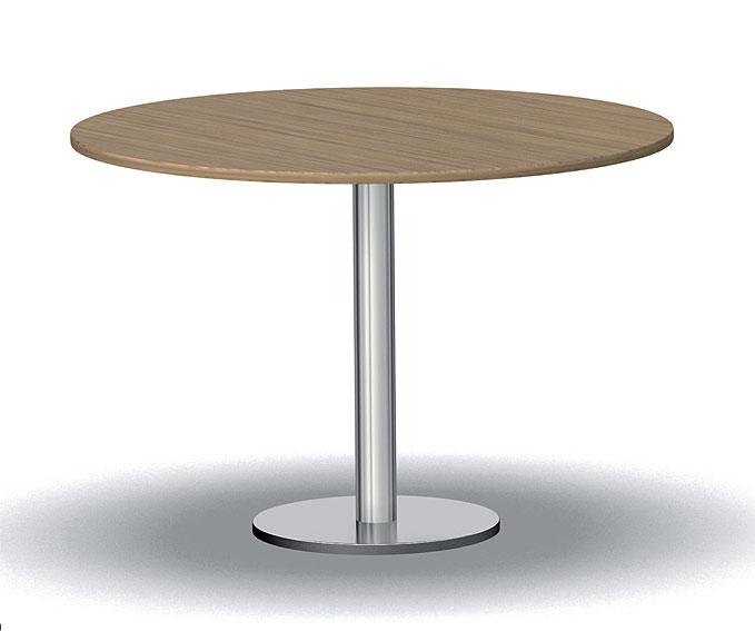 Mesa de comedor redonda extensible moderna de 106 julia for Mesas modernas para comedor