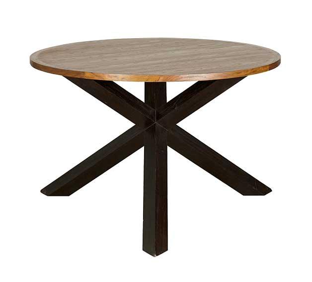 Mesa comedor redonda extensible pino mesas redondas for Mesa circular extensible