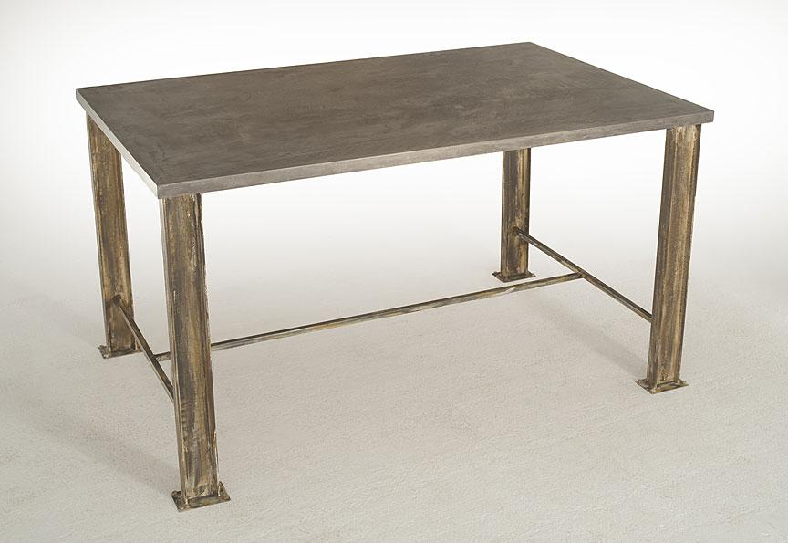 Mesa de comedor microcemento mica en for Muebles de comedor mesas