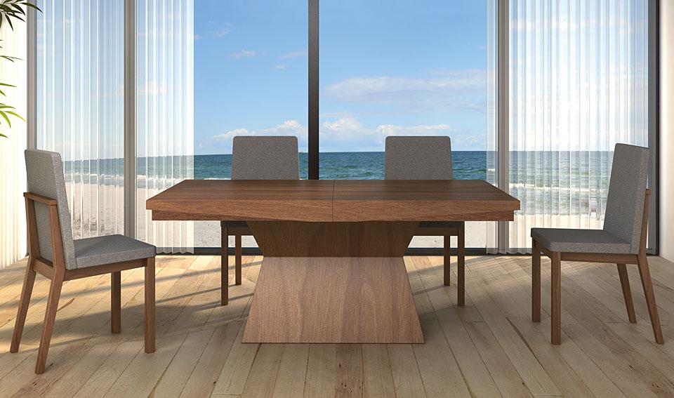 Mesa comedor extensible moderna alicia en cosas de for Mesas comedor extensibles modernas