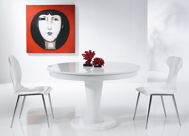 Mesa de comedor extensible moderna dabo en cosas de for Mesa extensible moderna